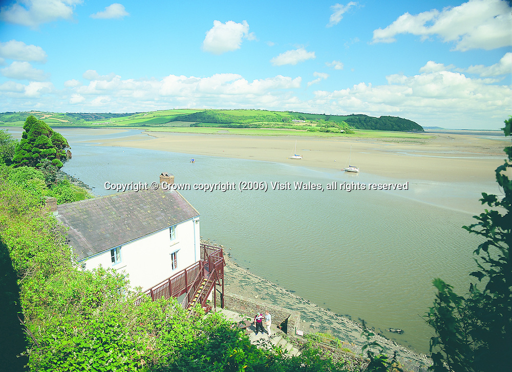 Dylan Thomas Boathouse<br /> Laugharne<br /> Historic Sites - Houses