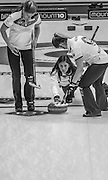 "Glasgow. SCOTLAND. Scotland's  ""Skip""  Eve MUIRHEAD, releases  the ""Stone"" as it move away from the ""Hog Line"" during the Le Gruyère European Curling Championships. 2016 Venue, Braehead  Scotland<br /> Sunday  20/11/2016<br /> <br /> [Mandatory Credit; Peter Spurrier/Intersport-images]"
