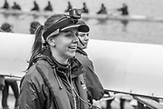 London. United Kingdom,  Cox, Waiting to boat for the 2018 Women's Head of the River Race.  location Barnes Bridge, Championship Course, Putney to Mortlake. River Thames, <br /> <br /> Saturday   10/03/2018<br /> <br /> [Mandatory Credit:Peter SPURRIER Intersport Images]<br /> <br /> Leica Camera AG  LEICA M (Typ 262)  1/1000 sec.  mm f.4.8 400 ISO.  23.0MB