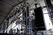 Gobi stage set-up at the Coachella Music Festival, Indio, CA, April 16, 2010.