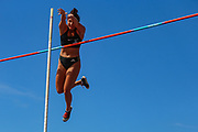 Natalie HOOPER competes in the Women's Pole Vault during the Muller British Athletics Championships at Alexander Stadium, Birmingham, United Kingdom on 25 August 2019.