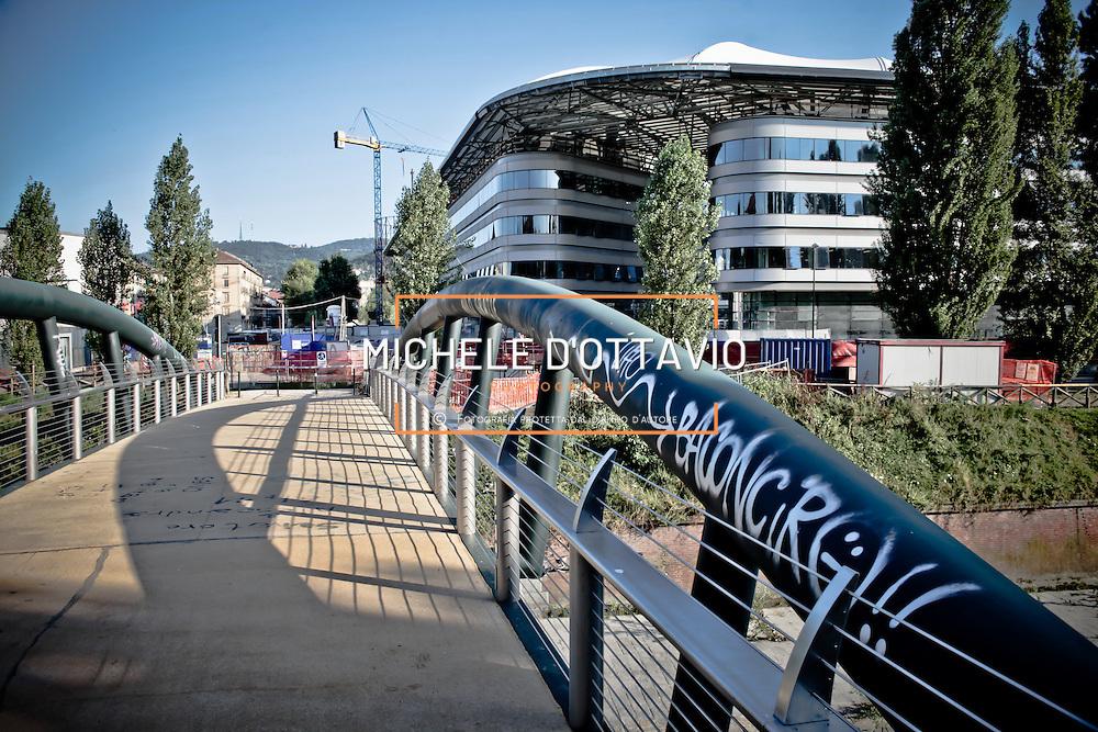 Torino  nuova sede dell'Università  Facoltà di Giurisprudenza e Scienze Politiche area ex Italgas..Progetto: Maire Engineering (capogruppo), Foster and Partners, I.C.I.S., Giugiaro Design, Arch. B. Camerana, Studio Mellano Associati, Studio Buonomo Veglia, Studio Associato CO.PA.CO, Ing. G....
