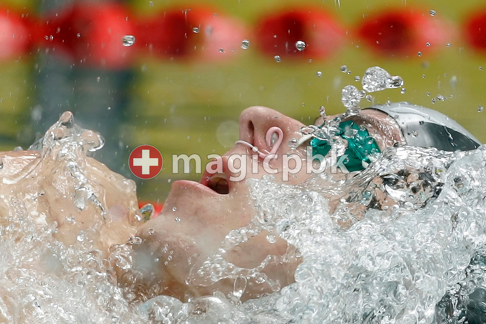 LIES' Ralph MADOERIN of Switzerland competes in the men's 50m Backstroke heats at the Swiss Swimming Championships in Zurich (Zuerich) Oerlikon, Switzerland, Friday, March 20, 2009. (Photo by Patrick B. Kraemer / MAGICPBK)
