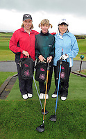 MArge Heirons, Laurena Freeley and Breedge Folliard from Ballyhaunis Golf Club  at the Galway Golf Club for the AIB Ladies Irish Open Club Challenge qualifier..Photo:Andrew Downes