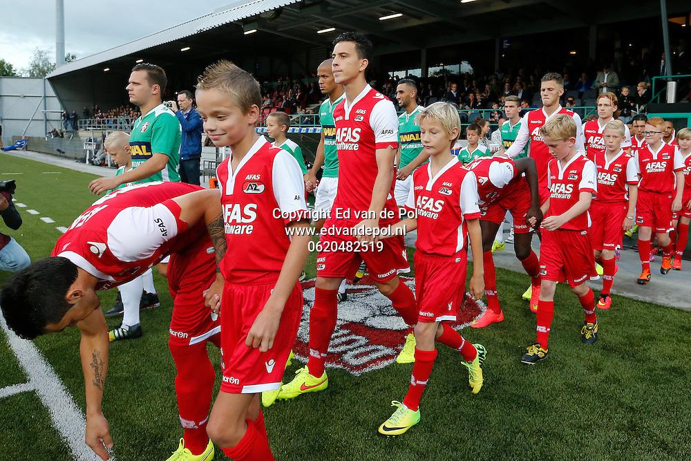 DORDRECHT - 30-08-2014 - Dordrecht - AZ, Krommedijk  Stadion, 1-3,