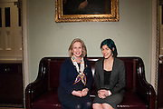 Senator Kirsten Gillibrand(D) and Emma Sulkowicz pose for a photo before attending the State of the Union at the US Capitol on January 20, 2015 in Washington DC. Sulkowicz is a senior visual arts student at Columbia University and is the guest of Sen. Gillibrand for the State of the Union. Photo by Kris Connor for New York Daily News