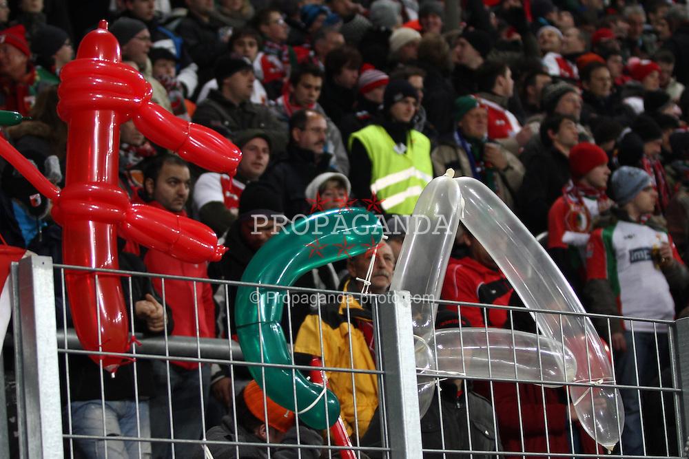 21.12.2010, Impuls Arena, Augsburg, GER, DFB Pokal Achtelfinale, FC Augsburg vs FC Schalke 04, im Bild Luftballons FCA  EXPA Pictures © 2010, PhotoCredit: EXPA/ nph/  Straubmeier       ****** out ouf GER ******