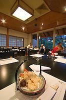A tempura basket at Zai Japanese Restaurant in Port Douglas, far north Queensland, Australia.