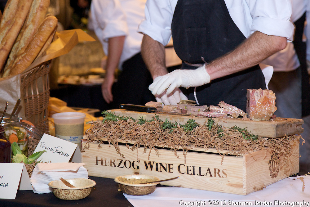 February 15, 2012 Los Angeles, CA..Herzog Cellars is Celebrating fine wines and cuisine at the 2012 International Food & Wine Festival. Year after year, this massive event has highlighted choice wines brought in from across the globe. This year's festival is in Los Angeles, CA for the first time, and is the perfect place to taste amazing wines that have either been beyond your price range, extremely rare and hard to find, or ones that you may have passed by on the shelves because you had not yet discovered how superb they are! More than 100 labels were poured from Royal Wine Corp's diverse international portfolio, all in the sophisticated setting of the Hyatt Regency Century Plaza...In addition to the impressive line-up of artisan wines, attendees will be treated to a mouth-watering selection of gourmet delicacies prepared by Chef Todd Aarons, of Tierra Sur restaurant. Tierra Sur is recognized by Zagat as the highest rated restaurant in Ventura County, and one of the highest rated Kosher restaurants in the United States. Chef Aarons continues to dazzle foodies near and far with his Mediterranean-influenced cuisine, which will be on display and available for all to enjoy throughout the festival. Photos by Shannon Jordan