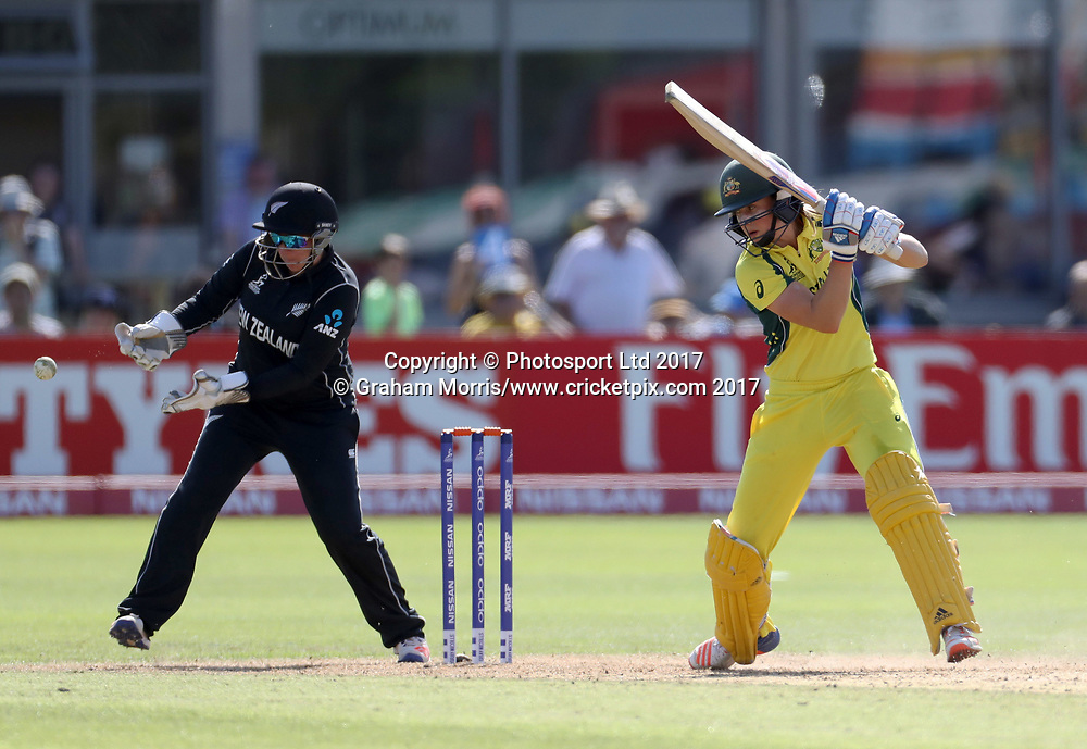 Rachel Priest fails to stump Ellyse Perry during the Women's World Cup fifty over match between Australia and New Zealand at the County Ground, Bristol. Photo: Graham Morris /www.photosport.nz