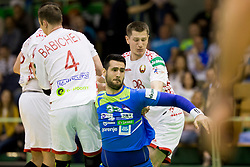 Igor Zabic of Slovenia during friendly handball match between National teams of Slovenia and Belarus, on April 8, 2018 in Sports hall Tri Lilije, Lasko, Slovenia. Photo by Urban Urbanc / Sportida