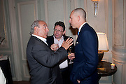 SIR PHILIP GREEN; LUCIAN GRAINGE;; DYLAN JONES, Dinner to mark 50 years with Vogue for David Bailey, hosted by Alexandra Shulman. Claridge's. London. 11 May 2010 *** Local Caption *** -DO NOT ARCHIVE-© Copyright Photograph by Dafydd Jones. 248 Clapham Rd. London SW9 0PZ. Tel 0207 820 0771. www.dafjones.com.<br /> SIR PHILIP GREEN; LUCIAN GRAINGE;; DYLAN JONES, Dinner to mark 50 years with Vogue for David Bailey, hosted by Alexandra Shulman. Claridge's. London. 11 May 2010