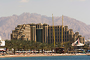 Queen of Sheba Hotel, Eilat, Israel Eilat, pop. 55,000, is Israel's southernmost city in the Southern District of Israel. Adjacent to the Egyptian city of Taba and Jordanian port city of Aqaba, Eilat is located at the northern tip of the Gulf of Aqaba, which is the eastern sleeve of the Red Sea.
