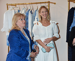 The Marchioness of Reading  and Lady Gabriella Windsor at the launch of the Beulah Flagship store, 77 Elizabeth Street, London England. 16 May 2018.