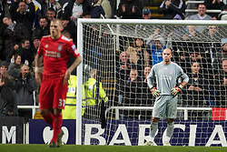 NEWCASTLE, ENGLAND - Saturday, December 11, 2010: Liverpool's goalkeeper Jose Reina looks dejected after conceding three Newcastle United goals during the Premiership match at St James' Park. (Photo by: David Rawcliffe/Propaganda)