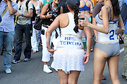 16 July 2010, New York, New York- The Naked Cowboy and 500 Triatheletes in their underwear run 1.7 miles as part of the Jamaica Underwear Run which kicks-off the Nautica New York City Triathlon in Central Park on July, 16 2010 in New York City. Terrence Jennings/Sipa
