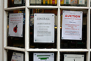 A notice in a news agents window advertising Woolpack Wanderers versus Garrison Gunners in a Charity Shield match on the island of St. Marys in the Isles of Scilly Sunday Nov. 11, 2007 Picture by Christopher Pledger