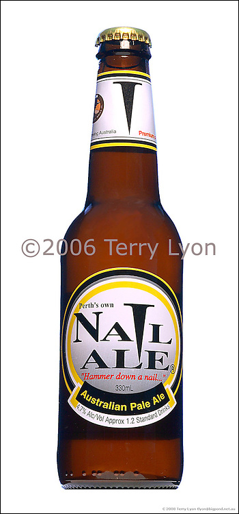 Nail Ale beer bottle photographs