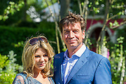 Nick Knowles and partner. The Chelsea Flower Show 2014. The Royal Hospital, Chelsea, London, UK