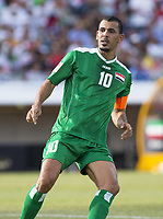 Fotball<br /> Asia Cup / Asiamesterskapet<br /> 23.01.2015<br /> Iran v Irak<br /> Kvartfinale<br /> Foto: imago/Digitalsport<br /> NORWAY ONLY<br /> <br /> Younus Mahmood (10) of Iraq in the FIFA Asian Football Confederation 2015 Asian Cup quarter-final game played in Canberra Stadium, Canberra, Australia