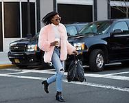 Pink Fur Coat and Knapsack, Outside Ralph Lauren FW2016