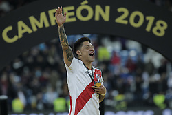 December 9, 2018 - Madrid, Spain - GONZALO MARTINEZ of River Plate celebrates the victory 3-1 against Boca Juniors during the CONMEBOL Copa Libertadores second leg final between River Plate against Boca Juniors at Santiago Bernabeu Stadium. (Credit Image: © Xavier Bonilla/NurPhoto via ZUMA Press)