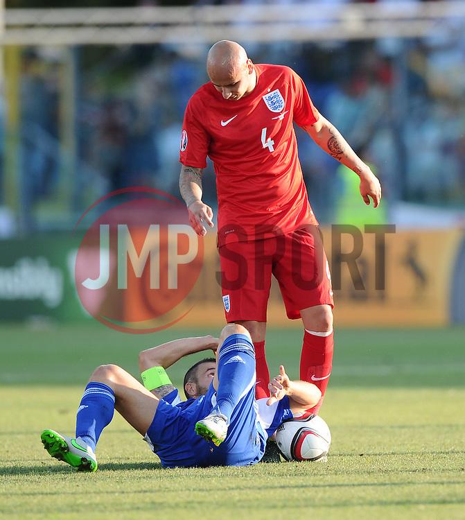 Jonjo Shelvey of England (Swansea City)  - Mandatory byline: Joe Meredith/JMP - 07966386802 - 05/09/2015 - FOOTBALL- INTERNATIONAL - San Marino Stadium - Serravalle - San Marino v England - UEFA EURO Qualifers Group Stage