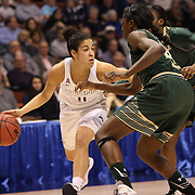 Kia Nurse, UConn, in action during the UConn Huskies Vs USF Bulls Basketball Final game at the American Athletic Conference Women's College Basketball Championships 2015 at Mohegan Sun Arena, Uncasville, Connecticut, USA. 9th March 2015. Photo Tim Clayton