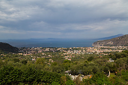 Sorrento, Italy, September 16 2017. A general view of Sorrento, Italy, photographed from the mountains. © Paul Davey