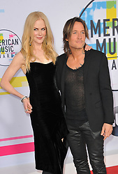 Nicole Kidman and Keith Urban at the 2017 American Music Awards held at the Microsoft Theater in Los Angeles, USA on November 19, 2017.