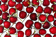 Ripe summer cherries.
