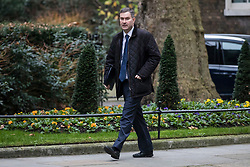 © Licensed to London News Pictures. 09/01/2018. London, UK.  Justice Secretary David Gauke arrives on Downing Street for the first meeting of the Cabinet after Prime Minister Theresa May's reshuffle. Photo credit: Rob Pinney/LNP