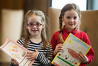 Each year over 6,000 primary school children in County Galway write and submit books in English and Irish. The winning entries are recognised in a major Awards&rsquo; Ceremony attended by an average of 1,500 attendees each year held in the Galmont Hotel.<br /> One of this years young authors was Mairead Nic Fhlannacha and &Eacute;abha Murphy from Scoil Mhic Dara<br />    Photo:Andrew Downes, XPOSURE .