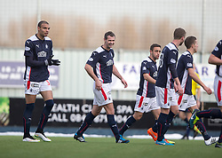 Falkirk's David McCracken celebrates after scoring their first goal. <br /> Falkirk 2 v 1 Brechin City, Scottish Cup fifth round game played today at The Falkirk Stadium.