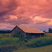 &quot;Oh Glorious Morning 2&quot;<br /> <br /> What glory you'll find in the sky at sunrise on a beautiful Michigan farm!!