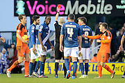 Ipswich Town midfielder Jonathan Douglas is shown the red card during the Sky Bet Championship match between Birmingham City and Ipswich Town at St Andrews, Birmingham, England on 23 January 2016. Photo by Alan Franklin.