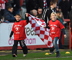 Mascots at Whaddon Road for the Sky Bet League Two game between Cheltenham Town and Oxford United - Photo mandatory by-line: Paul Knight/JMP - Mobile: 07966 386802 - 29/11/2014 - SPORT - Football - Cheltenham - Whaddon Road - Cheltenham Town v Oxford United - Sky Bet League Two