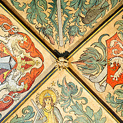 Painted mural on the ceiling of Prague's Old Town Hall