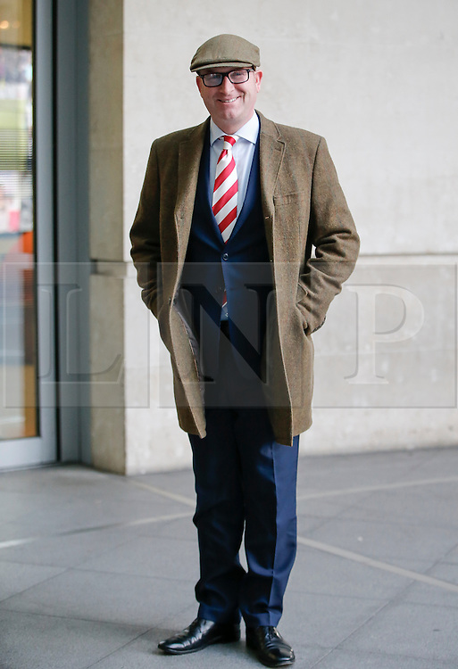 © Licensed to London News Pictures. 04/12/2016. London, UK. Leader of UKIP, PAUL NUTTALL, arrives at BBC Broadcasting House in London to appear on The Andrew Marr show on BBC One on Sunday, 4 December 2016. Photo credit: Tolga Akmen/LNP