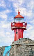 Digitally enhanced image of the lighthouse in Fort of Santa Catarina, Figueira da Foz, Portugal