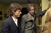 Mick Jagger and Bob Geldoff. Nicky Haslam celebrated his birthday by throwing a party for Jerry Hall. dorchester Club. 1 October 2000. © Copyright Photograph by Dafydd Jones 66 Stockwell Park Rd. London SW9 0DA Tel 020 7733 0108 www.dafjones.com