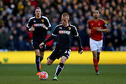 Watford midfielder Ben Watson  during the The FA Cup fourth round match between Nottingham Forest and Watford at the City Ground, Nottingham, England on 30 January 2016. Photo by Simon Davies.