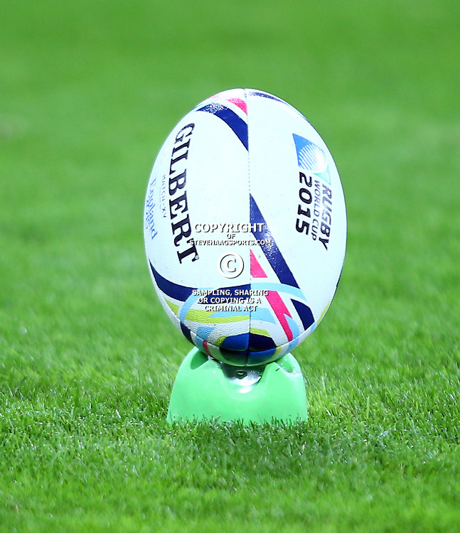 LONDON, ENGLAND - OCTOBER 30: Match Ball during the Rugby World Cup 3rd Place Playoff match between South Africa and Argentina at Olympic Stadium on October 30, 2015 in London, England. (Photo by Steve Haag/Gallo Images)