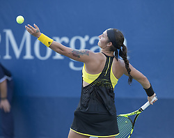 August 22, 2017 - New York, New York, United States - Katerina Stewart of USA serves during qualifying game against Kristie Ahn of USA at US Open 2017  (Credit Image: © Lev Radin/Pacific Press via ZUMA Wire)