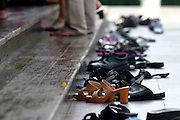 Shoes outside a shrine Thailand, Bangkok,