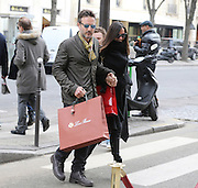 02.MARCH.2013. PARIS<br /> <br /> DAVID ARQUETTE AND GIRLFRIEND CHRISTINA MCLARTY ARE SEEN SHOPPING ON AVENUE MONTAIGNE IN PARIS.<br /> <br /> BYLINE: EDBIMAGEARCHIVE.CO.UK<br /> <br /> *THIS IMAGE IS STRICTLY FOR UK NEWSPAPERS AND MAGAZINES ONLY*<br /> *FOR WORLD WIDE SALES AND WEB USE PLEASE CONTACT EDBIMAGEARCHIVE - 0208 954 5968*