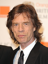 Mick Jagger at the 2009 British Academy Film Awards at the Royal Opera House in Covent Garden, central London.
