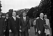 President John F. Kennedy attends a Garden Party at Áras an Uachtarain..27.06.1963.<br />