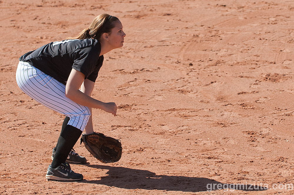 Vale third baseman Jaylene Tolman during the Vale Payette softball game, March 22, 2014 at Payette, Idaho.