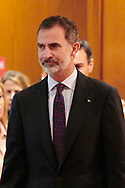 King Felipe VI of Spain attends the reading of the Spanish Constitution in occasion of the 40th anniversary of its approval by the Congress at the Cervantes Institute on October 31, 2018 in Madrid, Spain